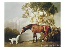 horse paintings of george stubbs ballerina bay horse and white dog hand painted canvas art high