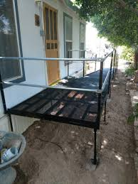 chair contemporary lg wheel chair ramp wheelchair ramps utah amramp the team installed this in payson to provide access how build over stairs door for