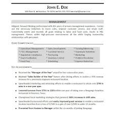 Management Resume Keywords The Letter Sample