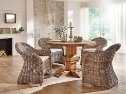 Runder Tisch Im Retro Design Aus Altholz Teak Massivholzmöbel Bei