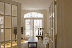 white or pale colored walls and doors create a feel of airiness
