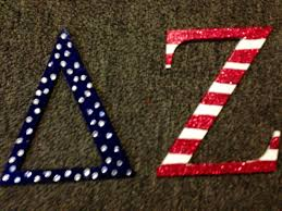 american flag sorority wooden letters painted by me door letters painted letters