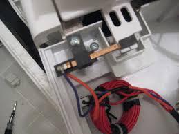 my haier portable washing machine gives e error message model