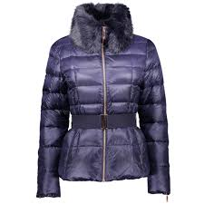 ted baker junnie down jacket with faux fur collar coat navy