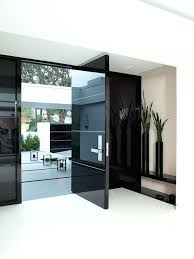 glass front doors modern door entry contemporary with concrete stoop appealing for houses