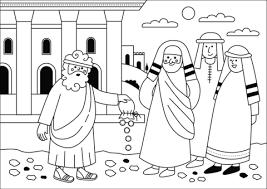 Disegno Di Gesù Restituisce I Soldi Da Colorare Disegni Da