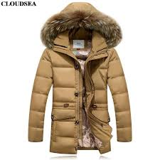 whole jacket mens winter parka luxury duck down coat with real fur hooded man clothing long length green black navy blue direct from china