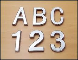 image is loading self adhesive chrome letters numbers silver car door