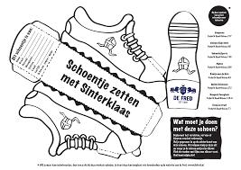 Knutseplaat Schoentje Sinterklaas Sinterklaas Kleurplaten Schoenen