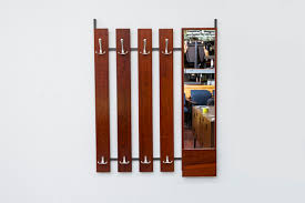 Coat Rack With Mirror MidCentury Rosewood Coat Rack With Mirror Amsterdam Modern 43
