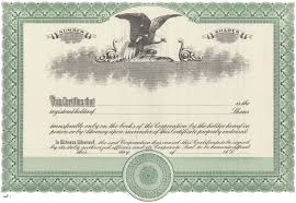 Stock Certificats Duke 2 Stock Certificates