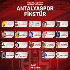 Antalyaspor'un 2021-2022 Sezonu Süper Lig Fikstürü Belli Oldu