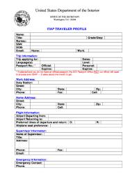 travel profile fillable itap traveler profile fill online printable