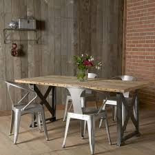 industrial kitchen table furniture. Idea For Lake House Table, Legs Of Table And Metal Chairs Salvaged Industrial Dining Kitchen Furniture I