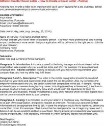 athletic director cover letter athletic cover letter