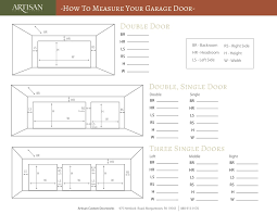 garage door widthsMeasure Your Garage Door With 4 Simple Steps  Artisan