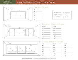 garage door merements worksheet