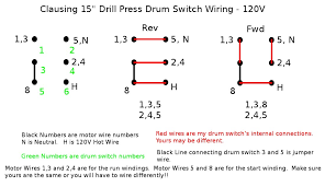 clausing drill press resto page 3 heavy shop equipment the how to wire a motor reverse switch single phase at 3 Phase Drum Switch Wiring Diagram
