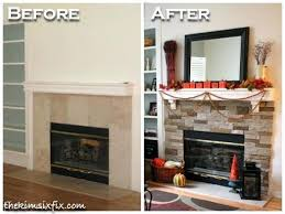 stacked stone fireplace stacked stone mantel makeover installing stacked stone fireplace surround