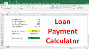 Calculate Loan Payment Formula How To Calculate Loan Payments Using The Pmt Function In Excel