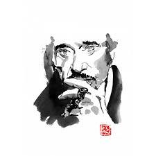 Johnny Hallyday 06 Pechane Watercolour Kazoart Online Art Gallery