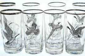 old fashioned drinking glass set 8 vintage drinking glasses game birds pattern tumblers w platinum silver old fashioned drinking glass