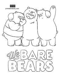 Free printable coloring pages for children that you can print out and color. We Bare Bears Printables Baby Trong 2021 Mỹ Thuật Thiết Kế đồ Họa Nhật Nghệ Thuật Doodle