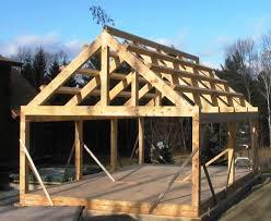 timber frame home exterior