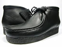 clarks clarks 35401 wallabee boot black leather mens size clarks wallaby boots black leather clarks 35401