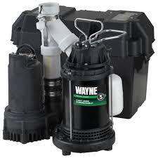 outdoor sump pump kit. wayne wss30v pre-assembled 120/12v 1/2 hp primary and battery backup outdoor sump pump kit