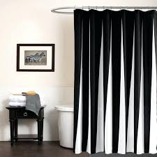 full image for modern polyester shower curtains black white striped printed waterproof fabric bathroom curtain eco