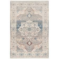 safavieh vintage persian 6 x 9 rug in gray and blue