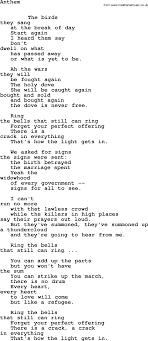 Who By Fire Lyrics Leonard Cohen Songs And Leonard Cohen Anthem