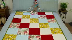 Simple Square Quilt Patterns Classy How To Sew A Block Quilt YouTube
