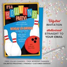 Bowling Invitation Printable Bowling Invitation Retro bowling invite bowling 1