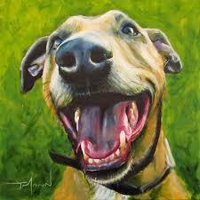 greyhound staffy cross painting pet portrait s