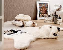 Faux Bearskin Rug Fake Polar Bear Rug Roselawnlutheran