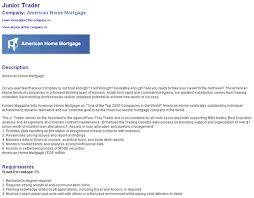 junior trader equity trader cover letter
