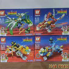 Ninja Cưỡi Siêu Thần Thú Ninjago Lego LY Đồ Chơi Xếp Hình Lắp Ráp