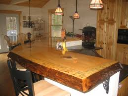 Wood Bar Top Awesome Rustic Wood Slab Bar Top Interior Design Wanted