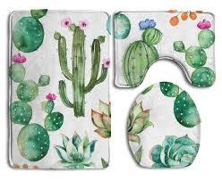fresh cactus themed bathroom decor ideas