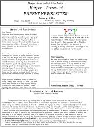 Education Newsletter Templates 16 Preschool Newsletter Templates Easily Editable And