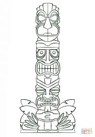 tribal coloring pages. Beautiful Tribal Tiki Tribal Pole Coloring Page  Free Printable Coloring Pages Intended