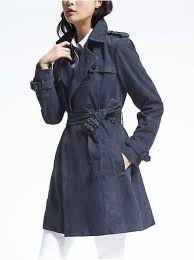 classic suede trench