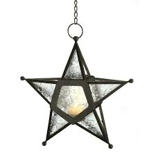 Amazon.com: Gifts & Decor Glass Hanging Star Candle Lantern, Clear: Home &  Kitchen