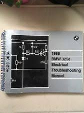 1986 bmw 325e electrical troubleshooting manual wiring diagram book 325e