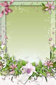 Fresh Green Flower Frame Psd Material Free Download