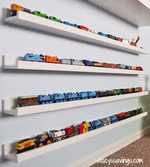 easy diy toy train storage display