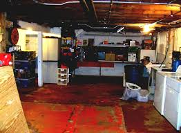 Best Choice To Decorate Unfinished Basement With Cool Furniture And