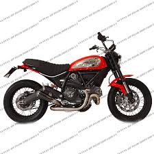 scrambler 2017 2017 exhaust hp gp07 black dugp1010br ac